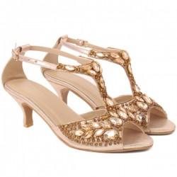 "Women ""VANYA"" Exotic Classic Mid High Heel Sandals"