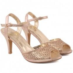 Women VANYA Exotic Classic Mid High Heel Sandals